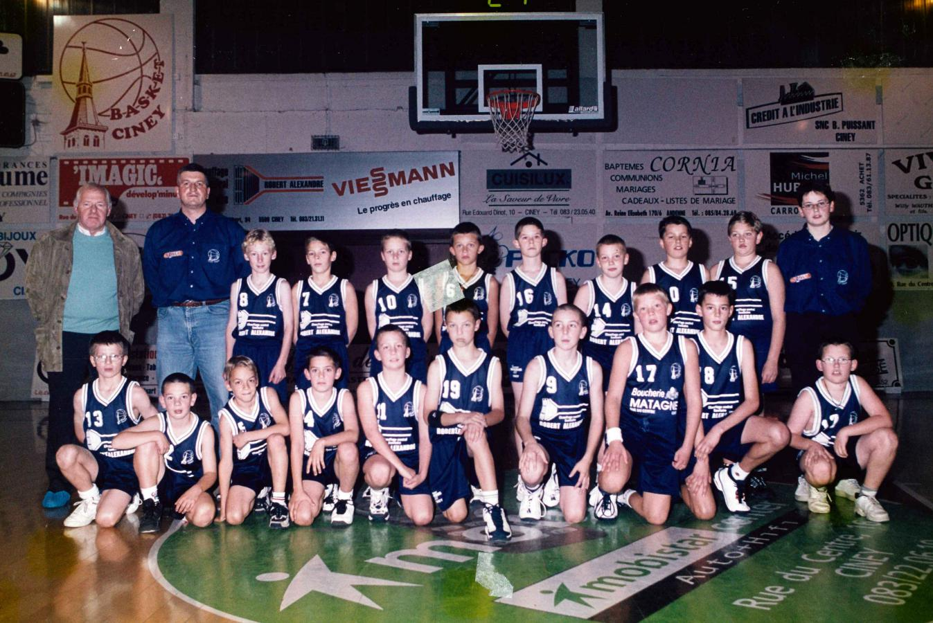 Equipes RBC Ciney 2000-2001