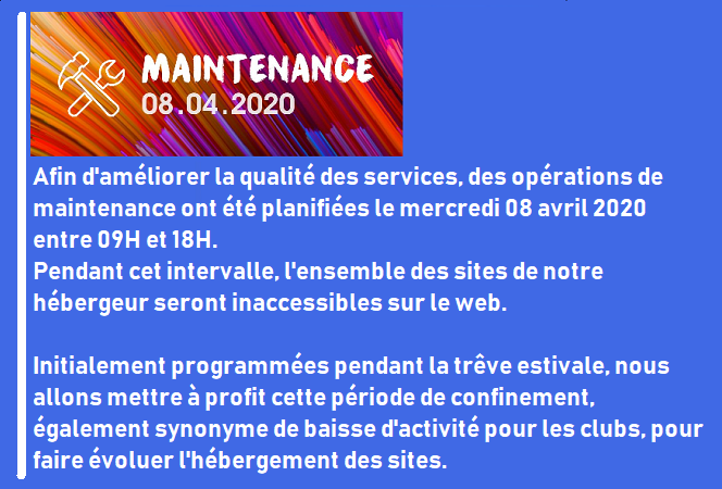Site indisponible le 8 avril