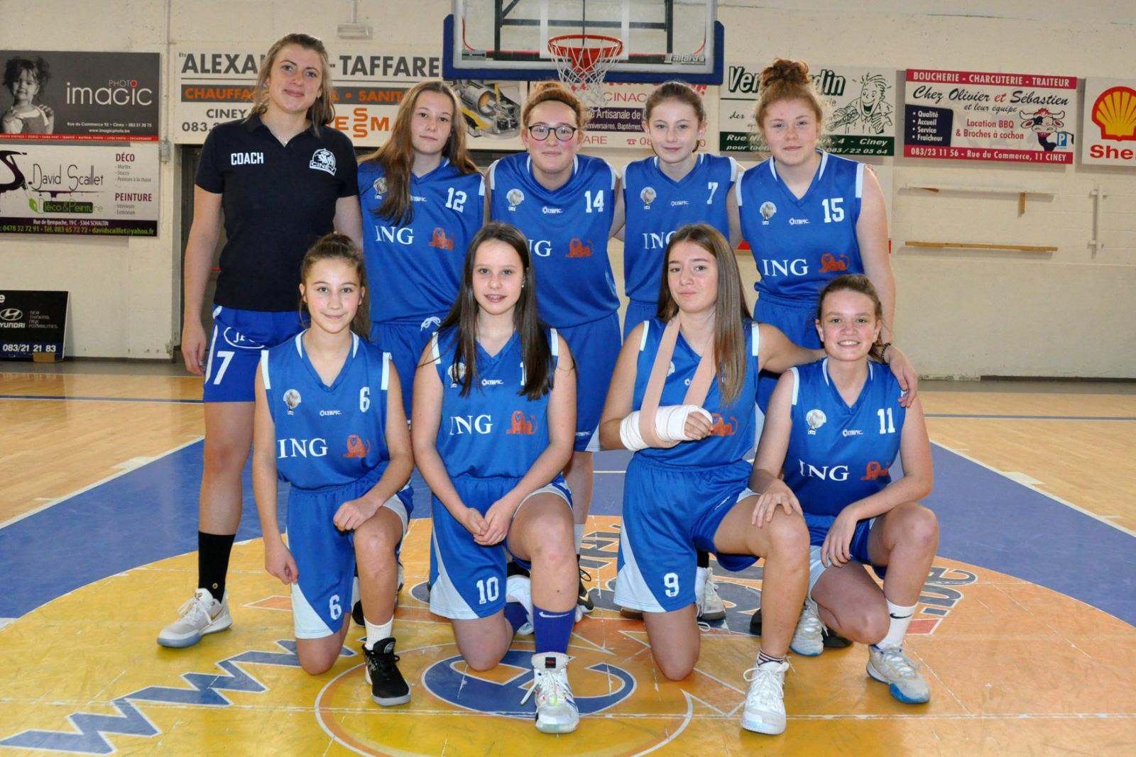 U16 filles - Royal Basket Club Ciney