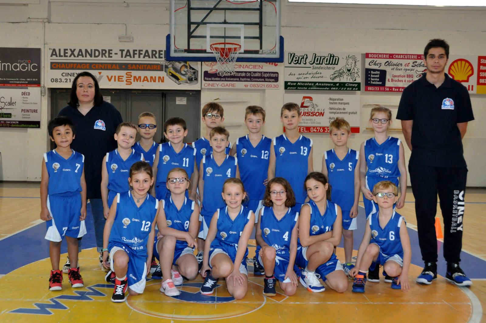 U8 mixtes CINEY B - Royal Basket Club Ciney