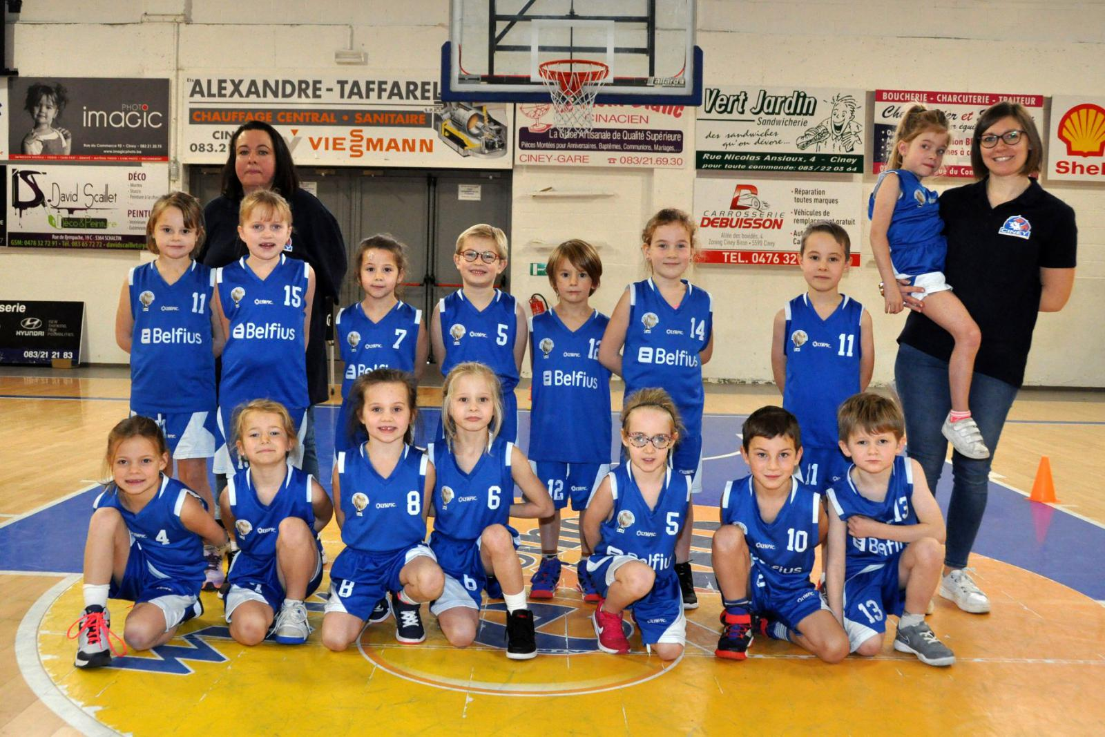 U7 mixtes CINEY B - Royal Basket Club Ciney